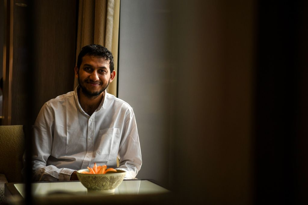 Indian entrepreneur and founder of Oyo Rooms Ritesh Agarwal posing for a photo in New Delhi.( CHANDAN KHANNA/AFP via Getty Images)