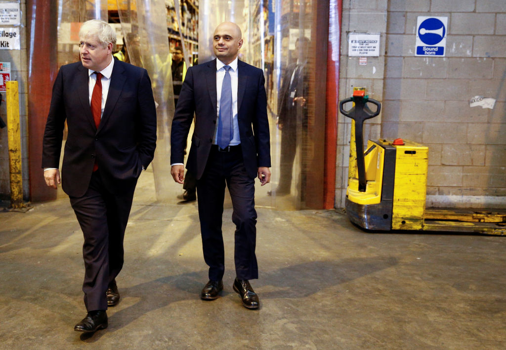 Walking the talk: Boris Johnson and Sajid Javid seem determined to reshape government spending. (File photo by Henry Nicholls / Getty Images)