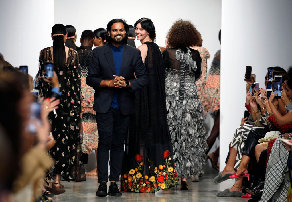 Indian designer Rahul Mishra  (Photo by Thierry Chesnot/Getty Images)