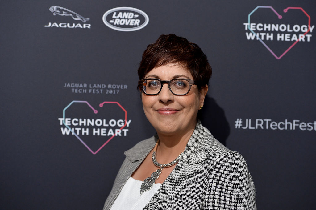 Benita Mehra speaks at the Technology with Heart: Jaguar Land Rover's Tech Fest at Central St Martins on September 7, 2017 in London, England.  (Photo by Jeff Spicer/Getty Images for Jaguar Land Rover)