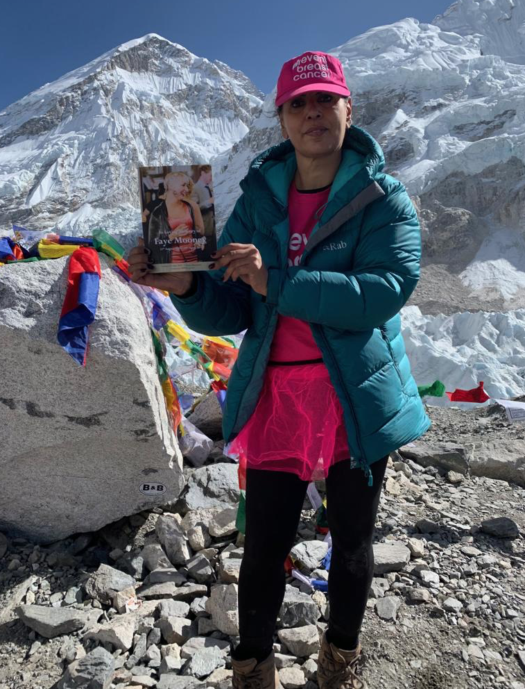 Yasmin Haque raised more than £8000 for charity Prevent Breast Cancer after she successfully climbed Mount Everest