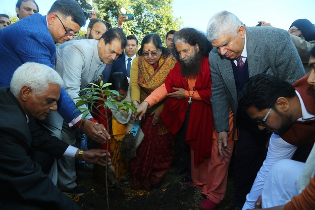 The inaugural ceremony of the planting programme was held on the occasion of 'Basant Panchami', an Indian festival that marks the preparation for the arrival of spring.
