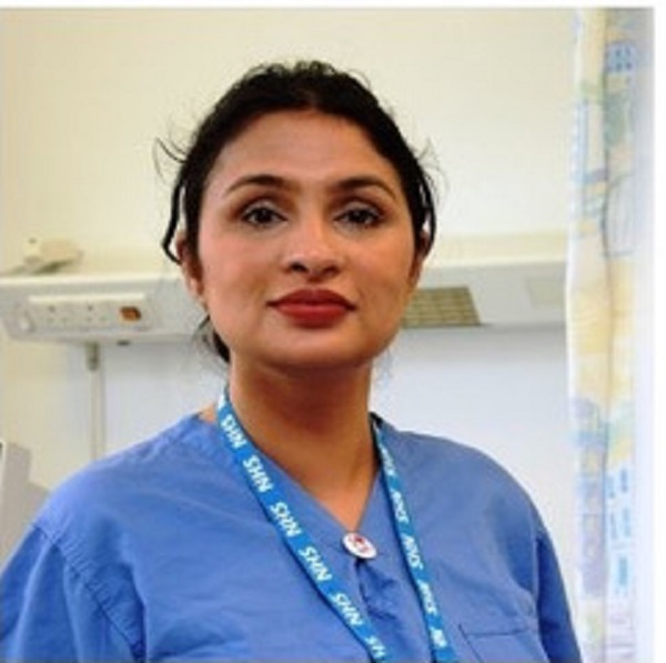Poonam Singh is a registered general nurse who is based at the Royal Victoria Infirmary in Newcastle