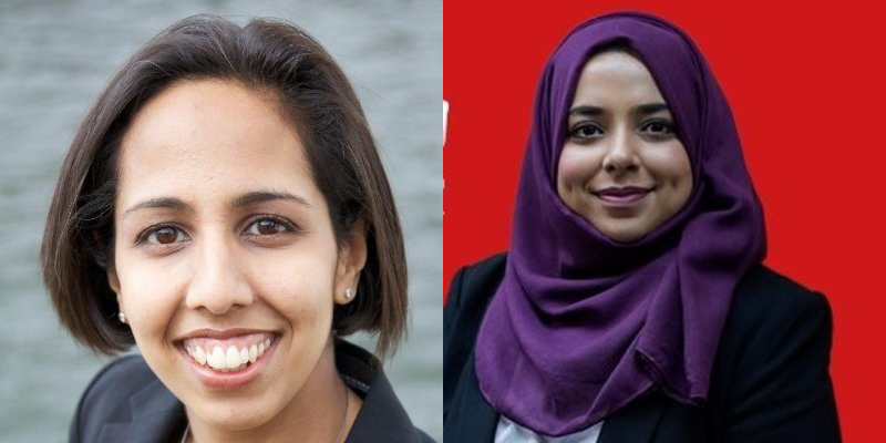 Munira Wilson (left) and Apsana Begum are two of the newly elected MPs in parliament