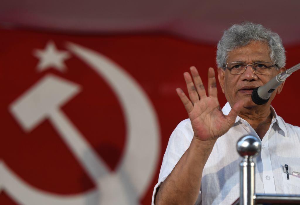 Sitaram Yechury, president of the Communist Party of India (Marxist) (ARUN SANKAR/AFP via Getty Images)