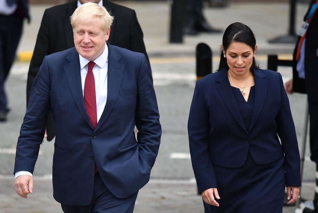 "Home Secretary Priti Patel said she had worked with Prime Minister Boris Johnson for many years, and that he was ""absolutely not a racist"". (Photo: Ben Stansall/AFP via Getty Images)"