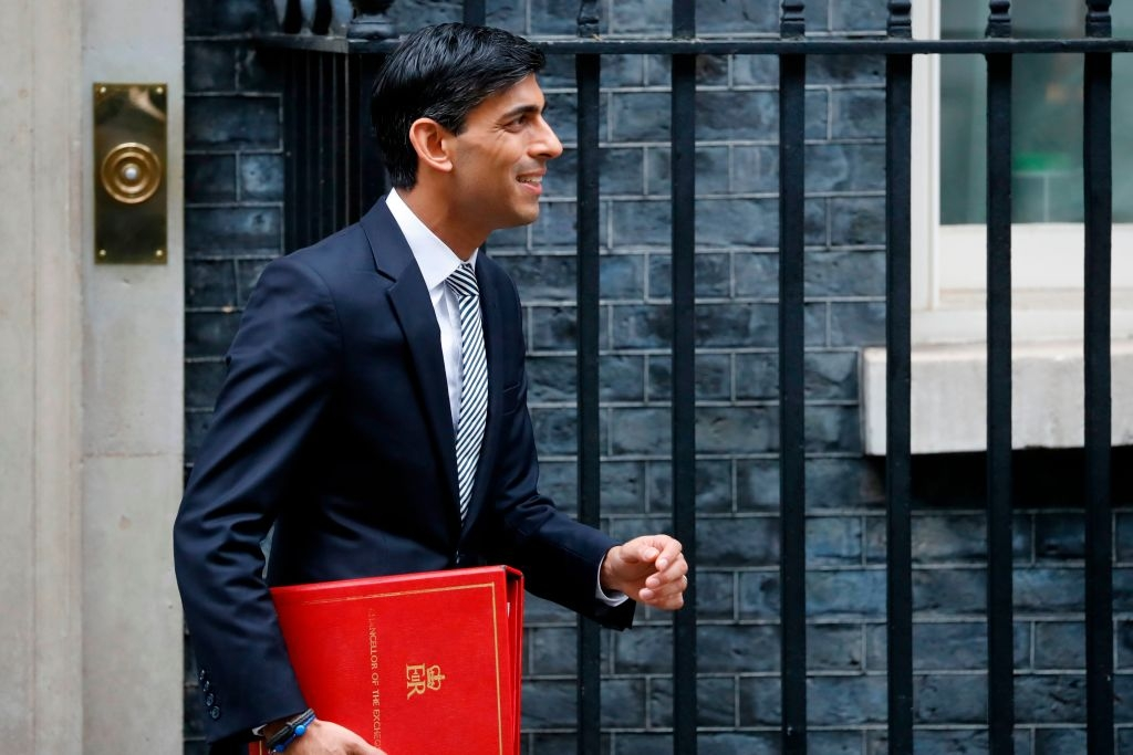 Chancellor of the Exchequer Rishi Sunak at 10 Downing Street (Photo: by Tolga Akmen/AFP via Getty Images)