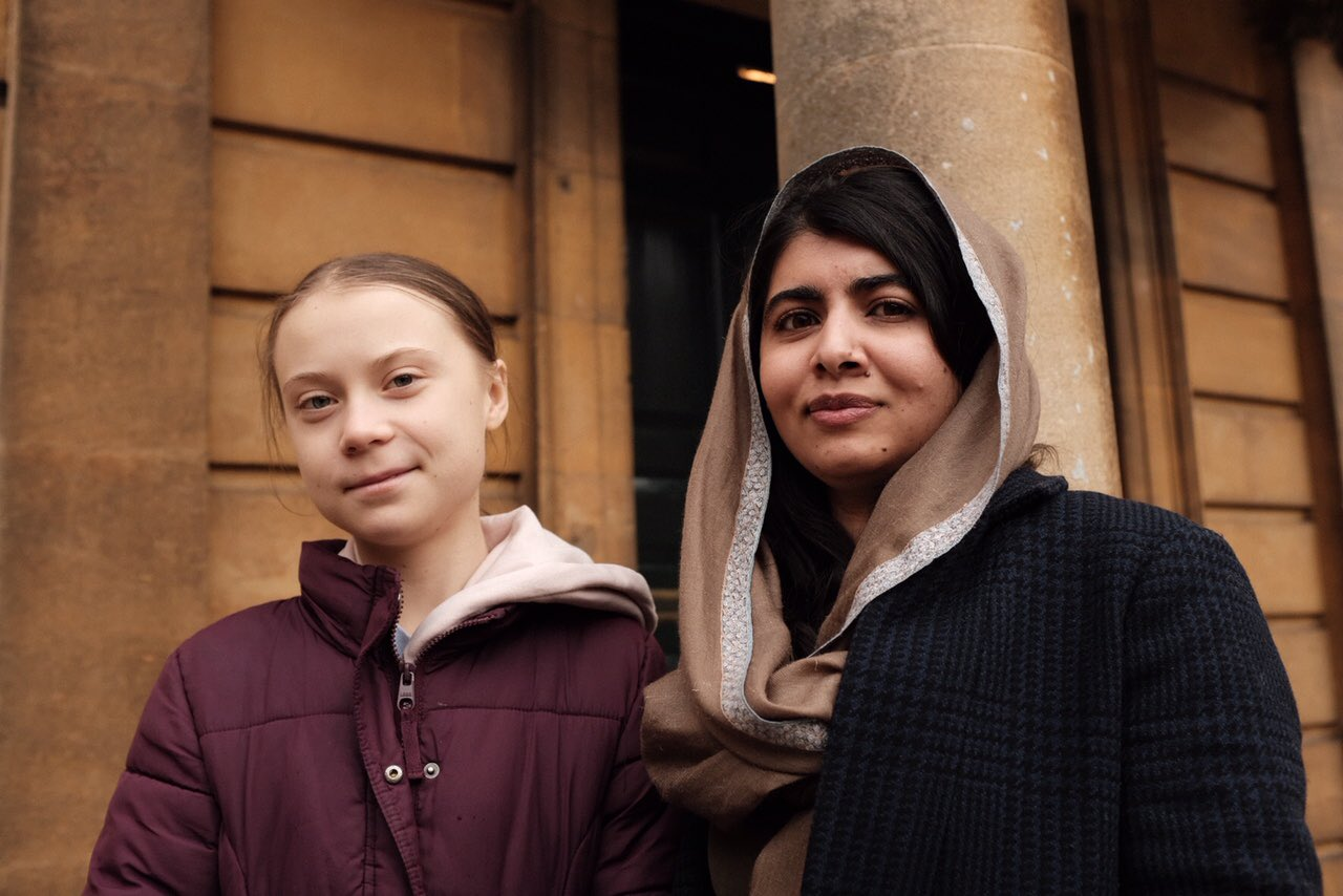 Malala Yousafzai and Greta Thunberg in UK (Photo: Twitter)