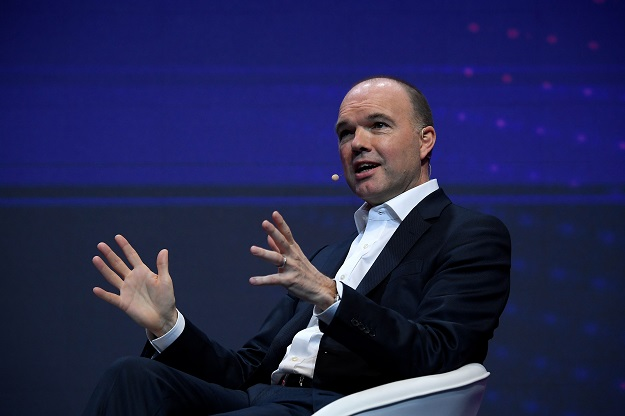 """""""We have now decided, as a result of the EU (recommendations) and the UK government's decision, to take out Huawei equipment from the core,"""" Vodafone CEO Nick Read said in a conference call on its third quarter (Photo: LLUIS GENE/AFP via Getty Images)."""