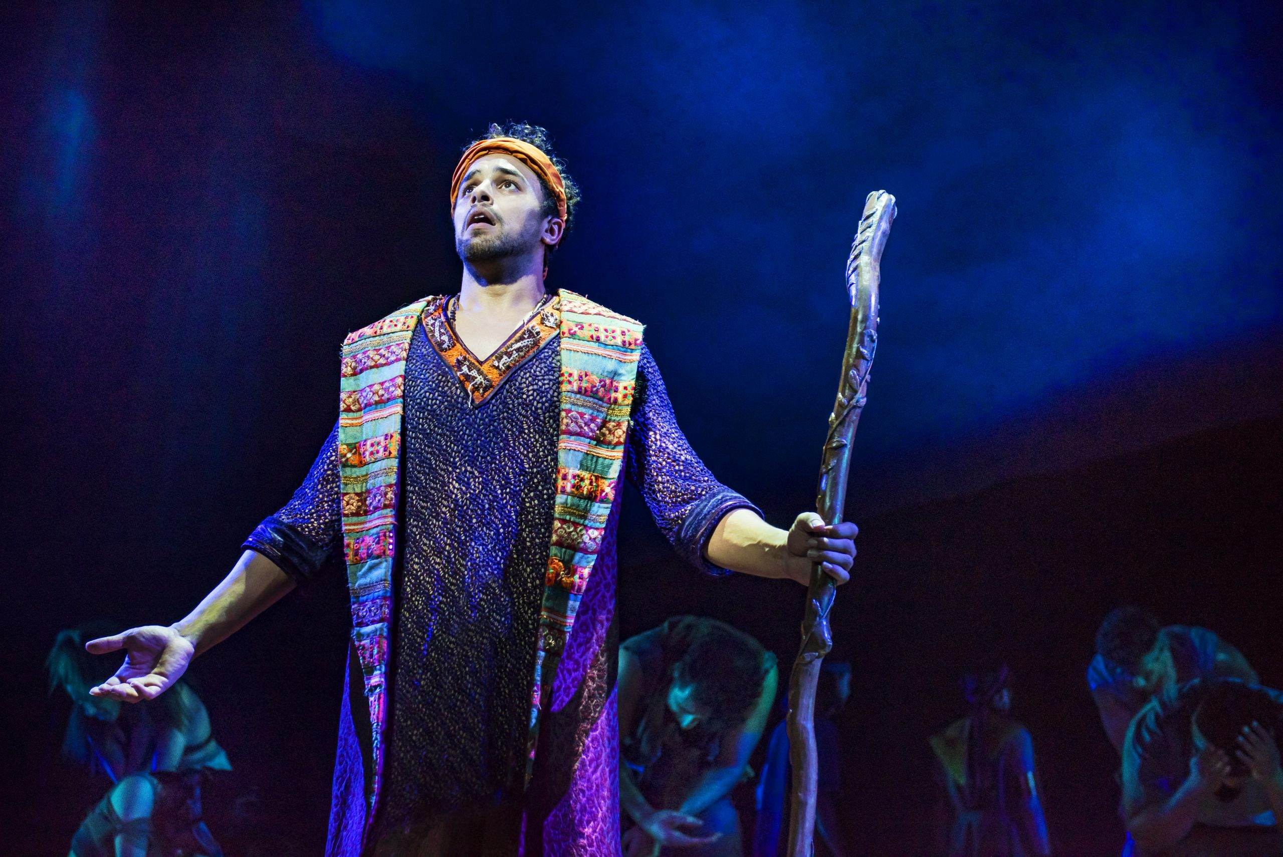 Luke Brady stars as Moses in the stage adaptation of  The Prince of Egypt (Pic credit: Matt Crockett ©DWA LLC)