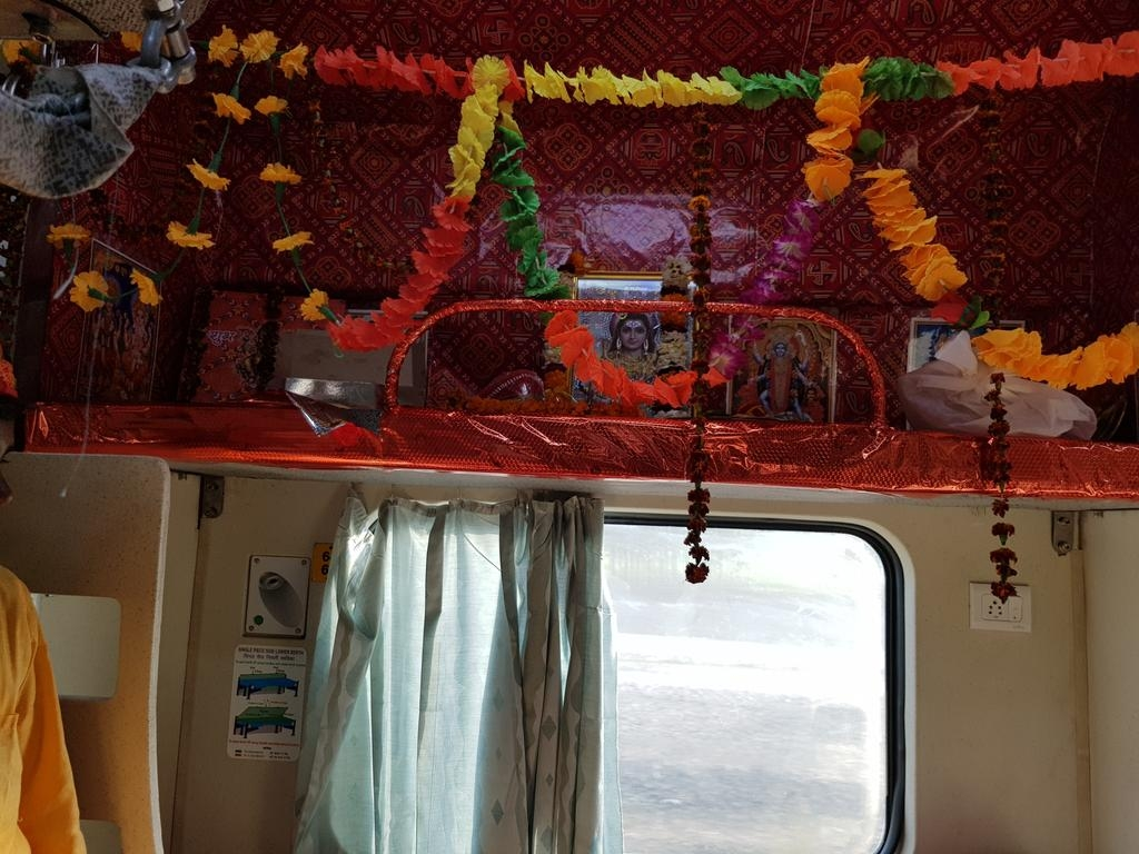 "The berth ""reserved"" for Lord Shiva on the Mahakal Express in north India. (Photo: Twitter)"
