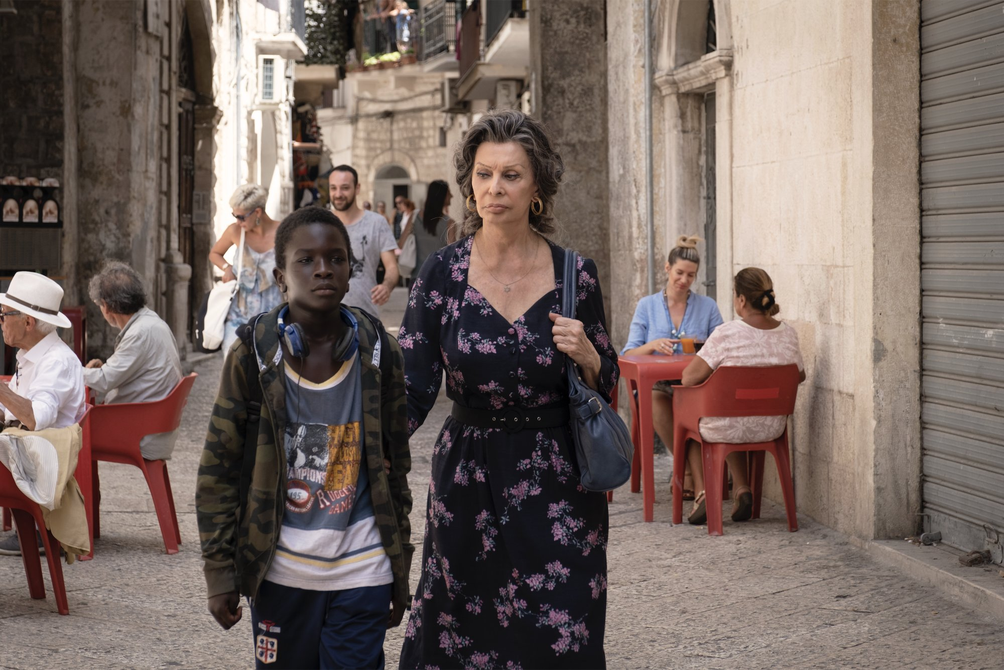 The Life Ahead stars Sophia Loren as Madame Rosa, a Holocaust survivor living in seaside Italy who takes in a 12-year-old boy without a home. (Photo: Twitter/Netflix Film)