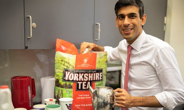 This picture tweeted by Chancellor Rishi Sunak has stirred an online row. (Photo: Twitter)