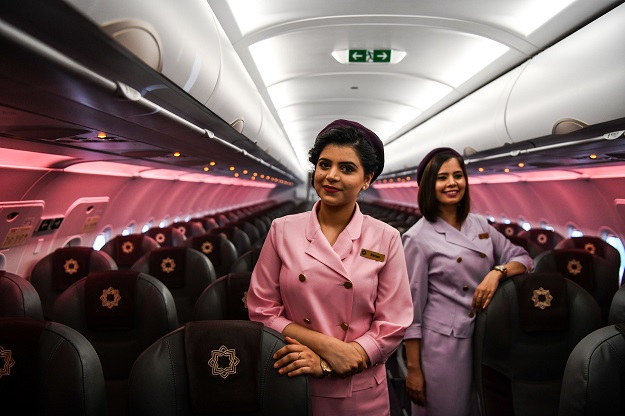 Vistara's Boeing 787-9 Dreamliner aircraft comes with 299 seats in a three-class cabin configuration, giving customers a choice of business, premium economy and economy cabins (Photo: CHANDAN KHANNA/AFP via Getty Images).