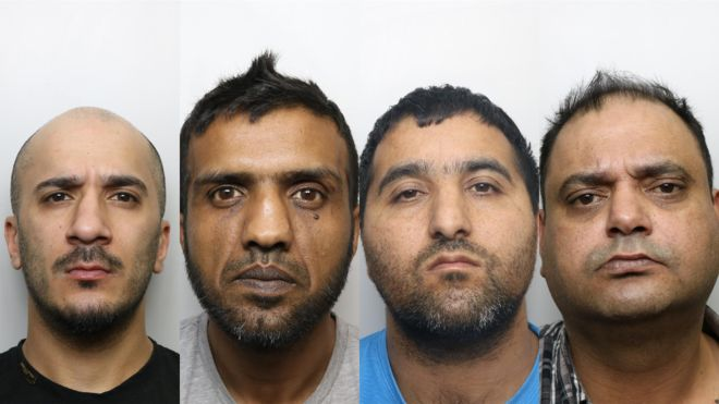 Usman Ali, Banaras Hussain, Abdul Majid and Gul Riaz and two other men were sentenced for a total of 55 years (Courtesy: West Yorkshire Police)