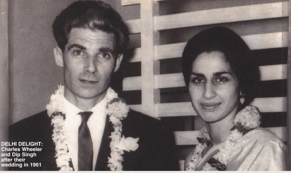 """Dip """"met and fell in love with Charles Wheeler"""" and they married in Delhi on March 26, 1961. Their wedding was considered sufficiently important to be carried by the wire services. The couple had two daughters, Shirin and Marina, a QC who was, until recently, married to Boris Johnson."""