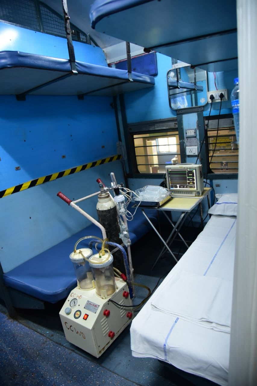 A view of the isolation ward set up by Indian Railways. (Courtesy: Twitter)