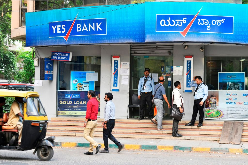 Yes Bank has needed the government to bail it out. (Photo by MANJUNATH KIRAN/AFP via Getty Images)