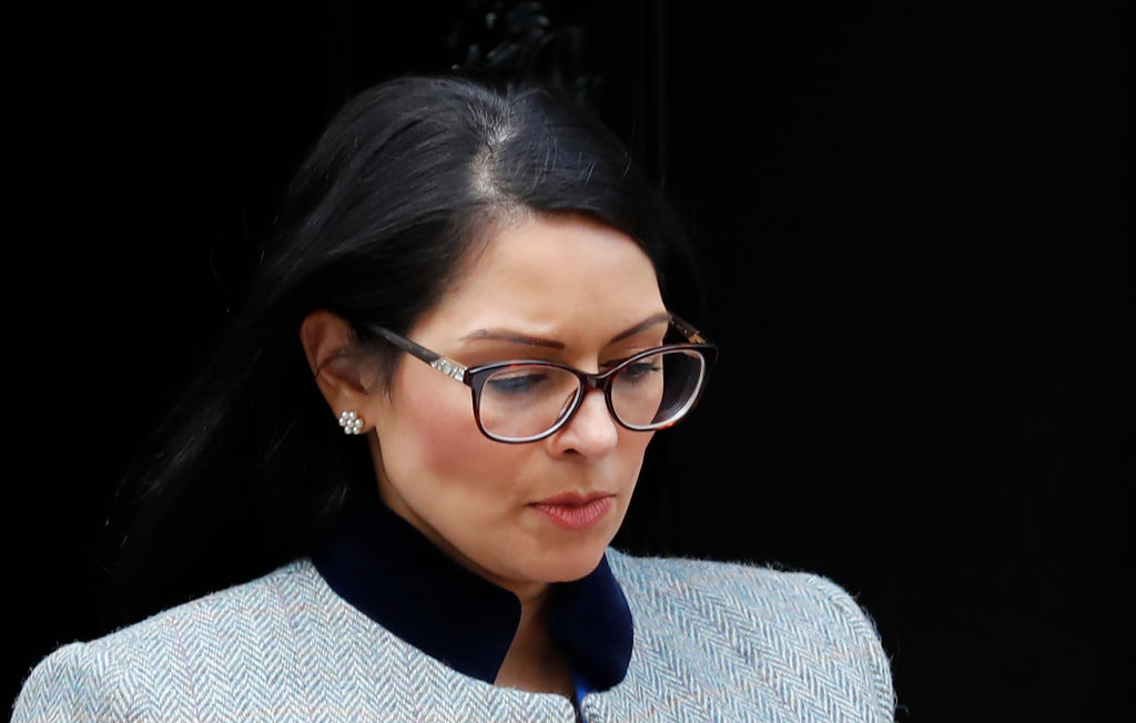 Home Secretary Priti Patel said she had once been advised to drop her surname and use her husband's in order to advance her career. (Photo: by TOLGA AKMEN/AFP via Getty Images)