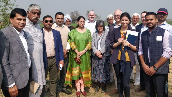 The UK delegation members have met farmers as part of their information-gathering visit to Delhi, Haryana, and Hyderabad.