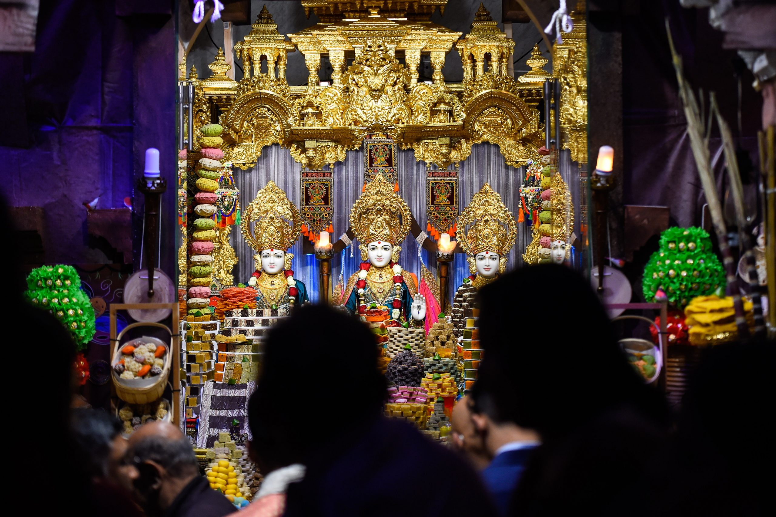 FILE PHOTO: Diwali celebrations at BAPS Shri Swaminarayan Mandir in London, England. (Photo by Peter Summers/Getty Images)