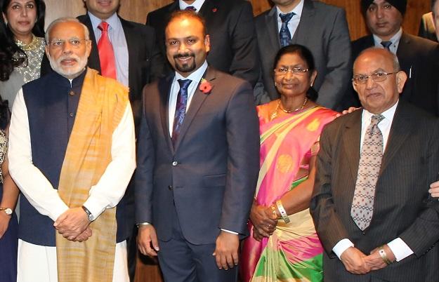 Memories: Narendra Modi (left) with Ramniklal Solanki (right).