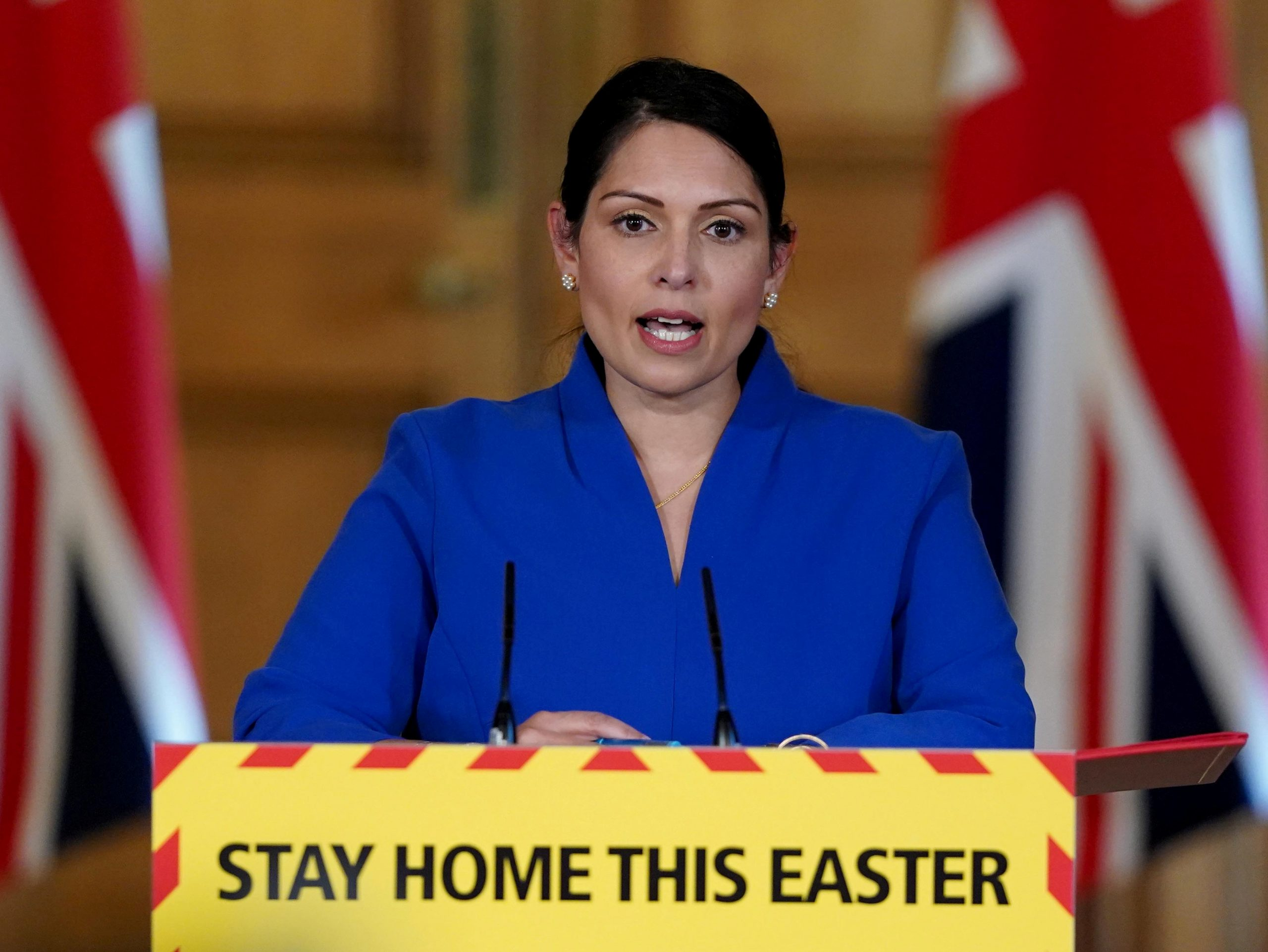Priti Patel warns UK public to follow rules as COVID-19 ...