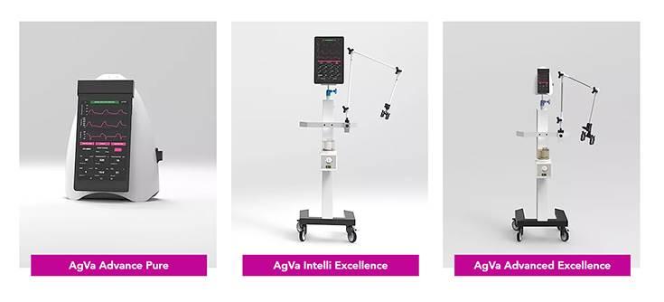 Variants of AgVa's portable ventilator systems