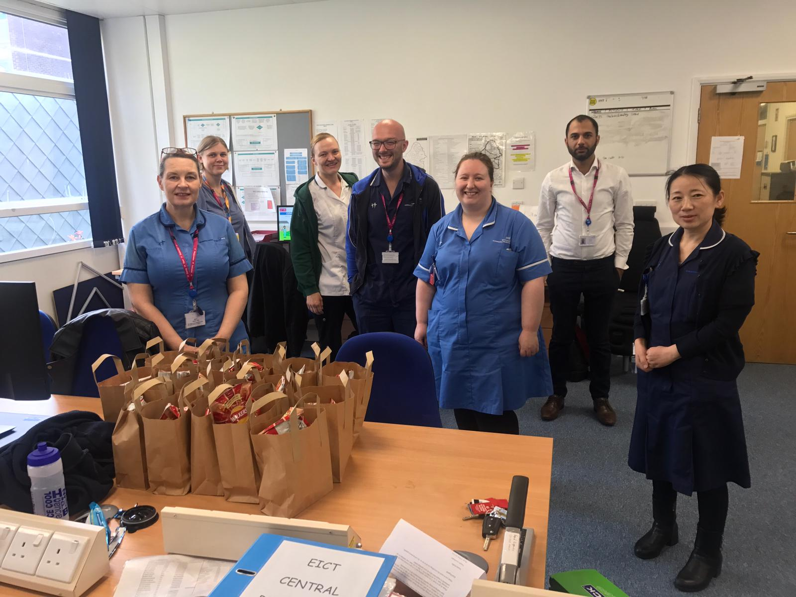 BAPS in Birmingham has made delivery to staff at Moseley Hospital