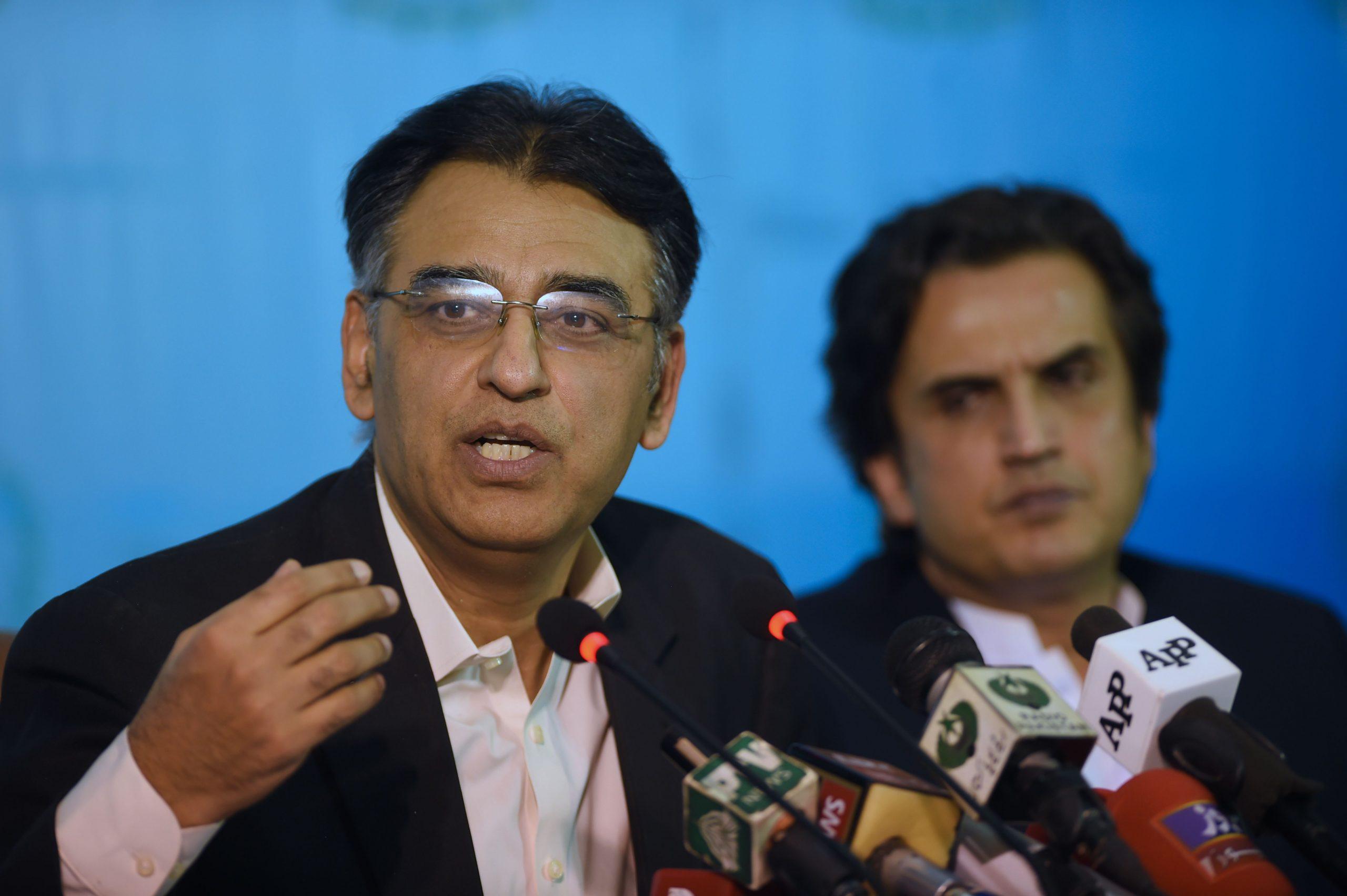Pakistan's planning minister Asad Umar (FAROOQ NAEEM/AFP via Getty Images)