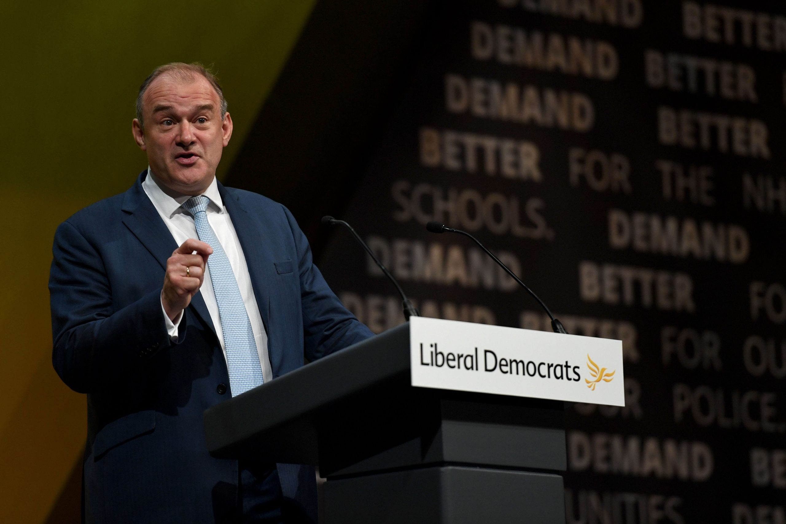 Sir Ed Davey (Photo by Finnbarr Webster/Getty Images)