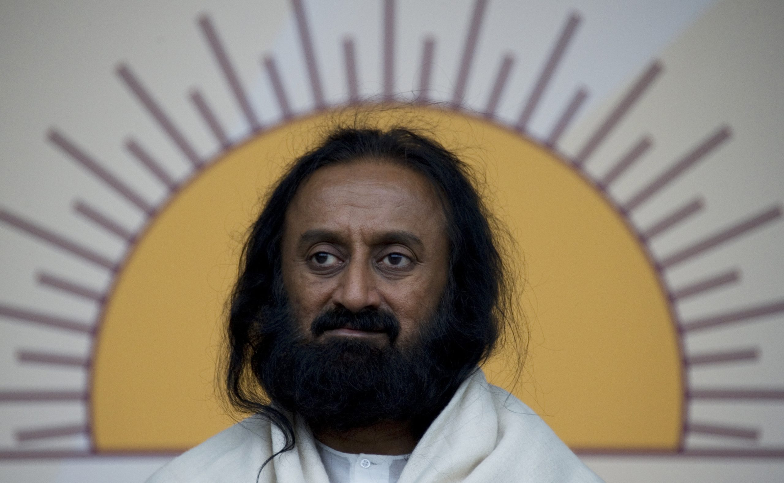 Indian spiritual leader Sri Sri Ravi Shankar (JOHN MACDOUGALL/AFP via Getty Images)