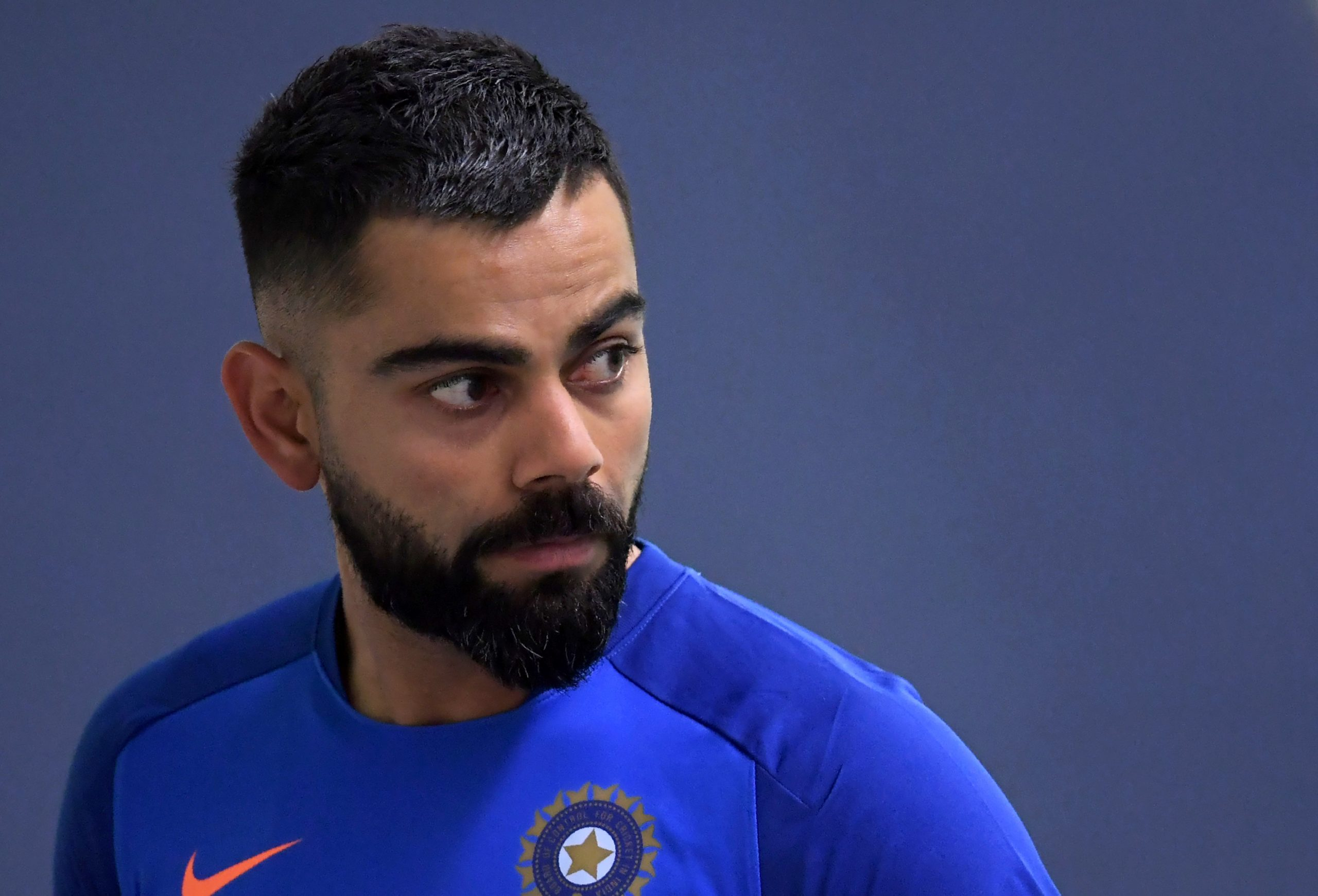"""With all eight teams now in quarantine in the UAE ahead of the September 19 start, the Royal Challengers Bangalore skipper Virat Kohli said: """"One mistake from us could literally spoil the whole tournament.""""      (DIBYANGSHU SARKAR/AFP via Getty Images)"""