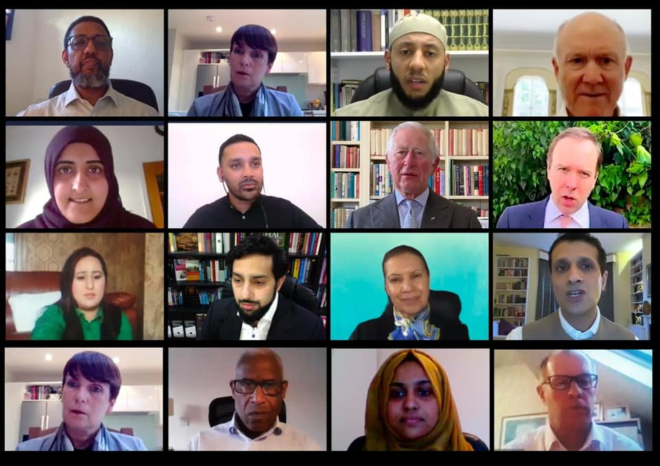 A number of leading community figures took part in the virtual Iftar.