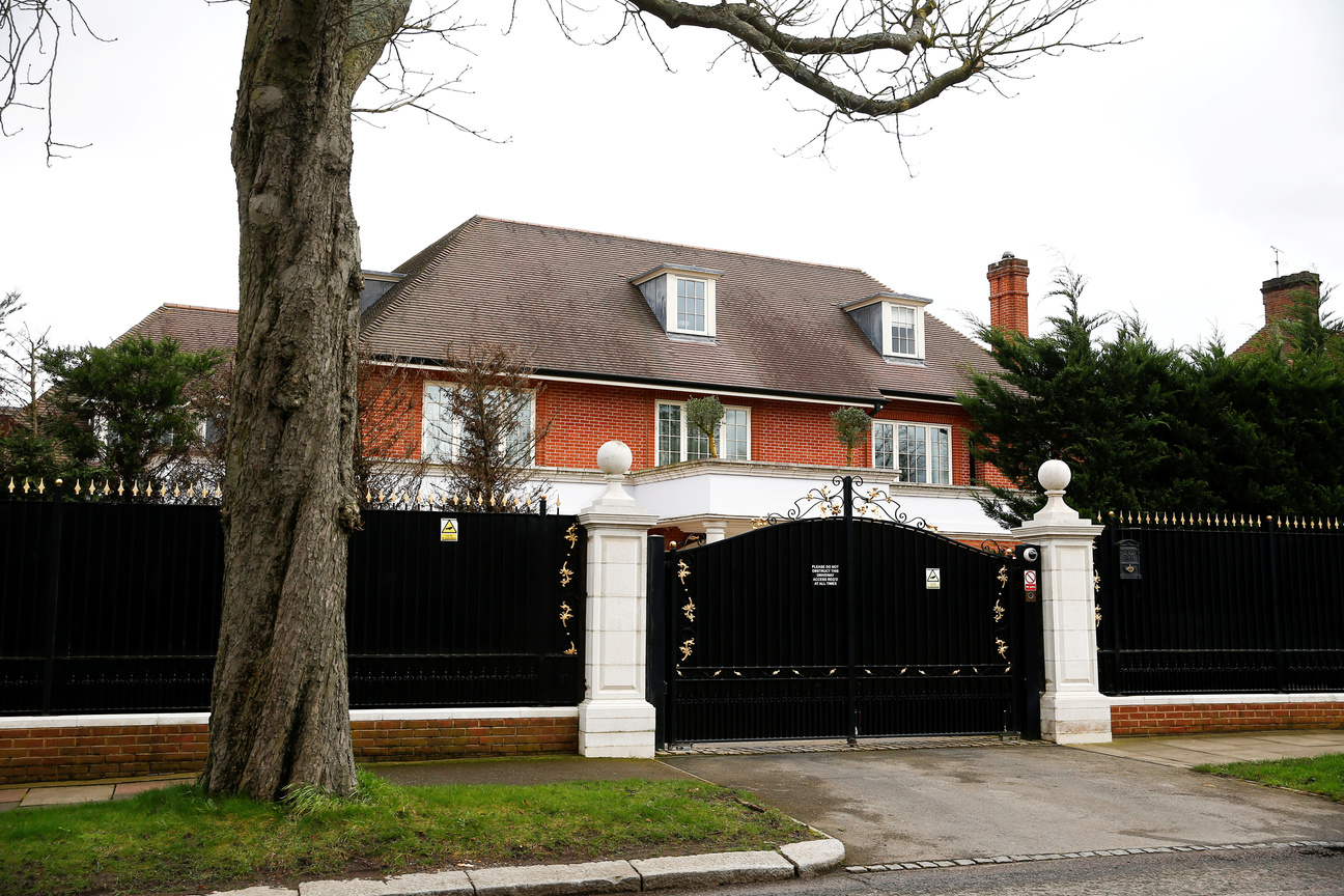 General view shows houses in The Bishops Avenue, Hampstead, in London, Britain March 10, 2020. Britain's National Crime Agency (NCA) had asked a grandson of the former president of Kazakhstan to explain where he got the money from to buy a multi-million pound mansion in one of north London's most expensive roads. (REUTERS/Henry Nicholls)