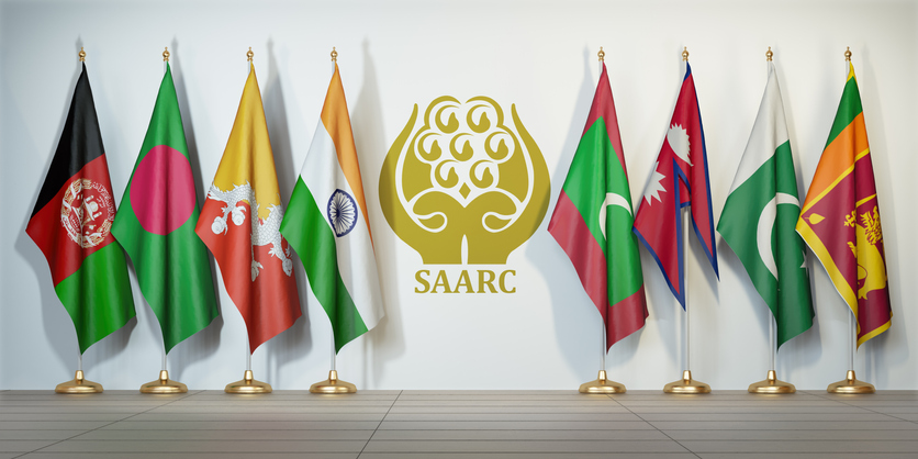 Flags of memebers of South Asian Association for Regional Cooperation (SAARC) (iStockks)