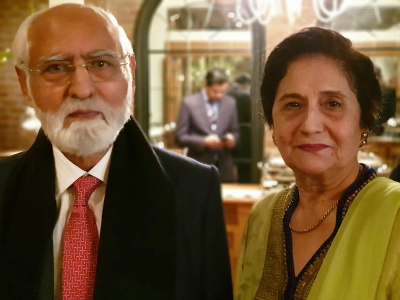 Fazal Rahmaan, 80, and his wife Wahida Rahmaan, 74, are seen in this undated photograph provided to Reuters, Pakistan.
