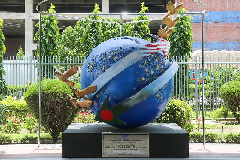 A plaque in front of Beximco Pharmaceuticals in Dhaka, Bangladesh. (Photo: Company website/Flickr)