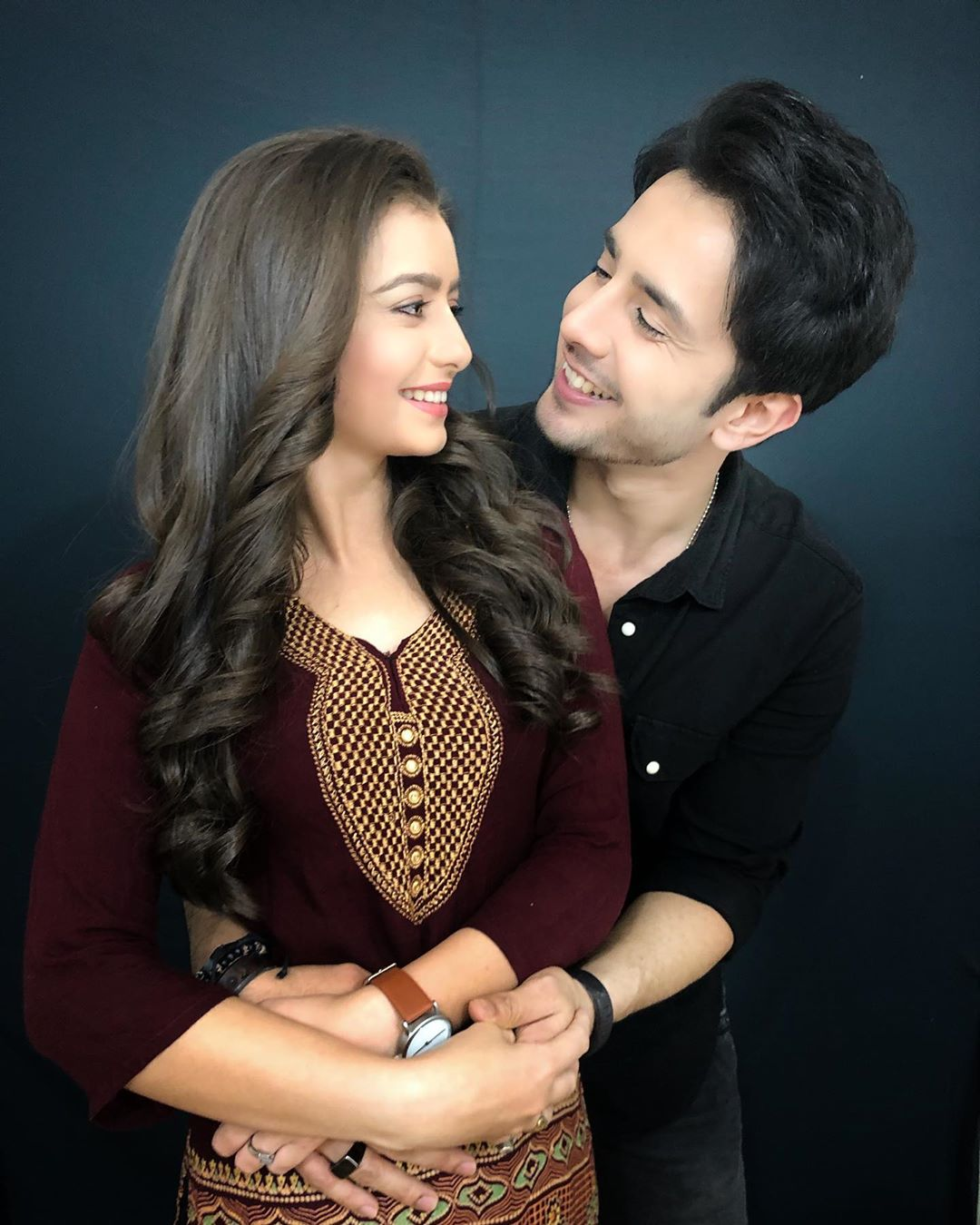 Chahat Pandey with co-star Zaan Khan