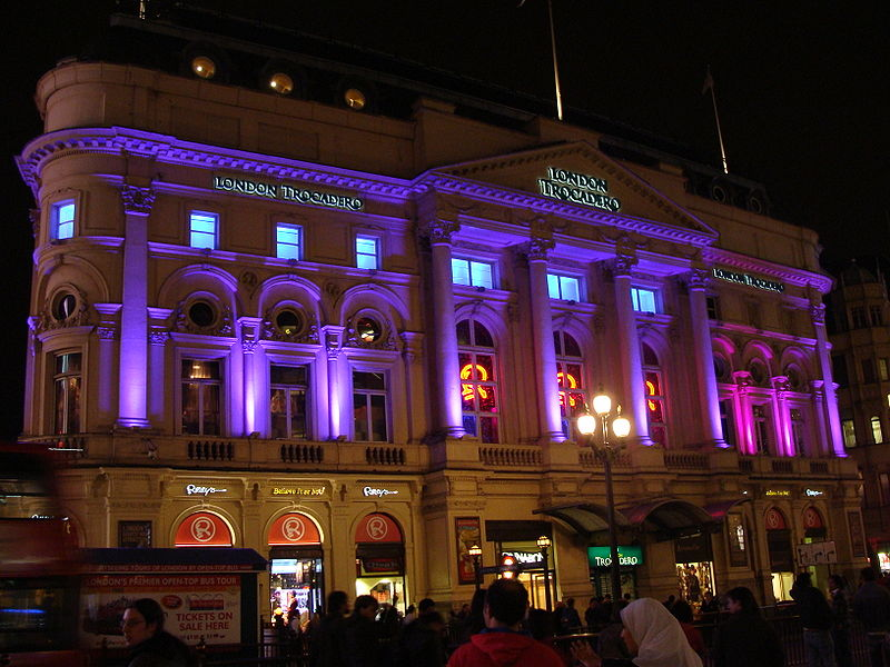File photo of Trocadero building in Piccadilly Circus, London.