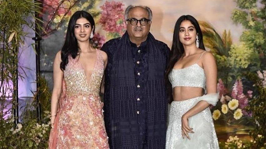 Boney Kapoor, Janhvi Kapoor & Khushi Kapoor