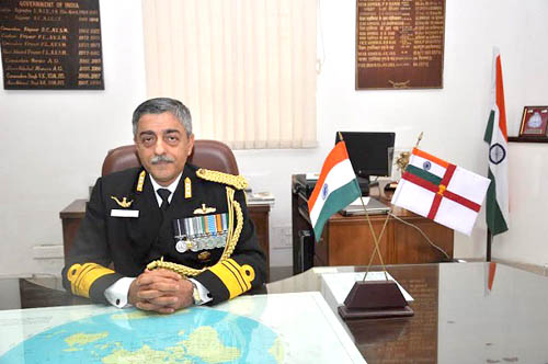 India's National Hydrographer Vice Admiral Vinay Badhwar (Courtesy: hydrobharat.gov.in)