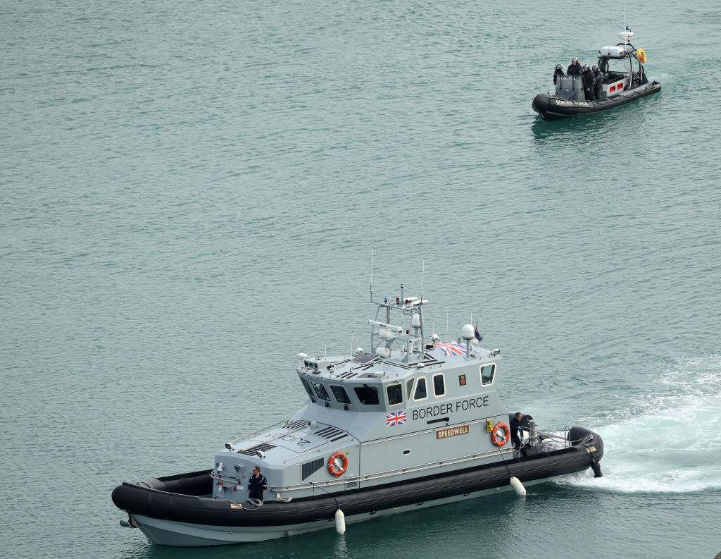 FILE PHOTO: UK Border Force boats patrol Dover Harbour in Dover, England. (Photo by Christopher Furlong/Getty Images)