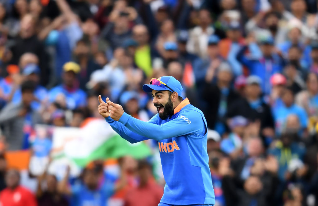 """I know matches will be played at a very good intensity but that feeling of the crowd connecting with the players and the tension of the game where everyone goes through it in the stadium, those emotions are difficult to recreate,"" says Virat Kohli.        (Photo credit should read DIBYANGSHU SARKAR/AFP via Getty Images)"
