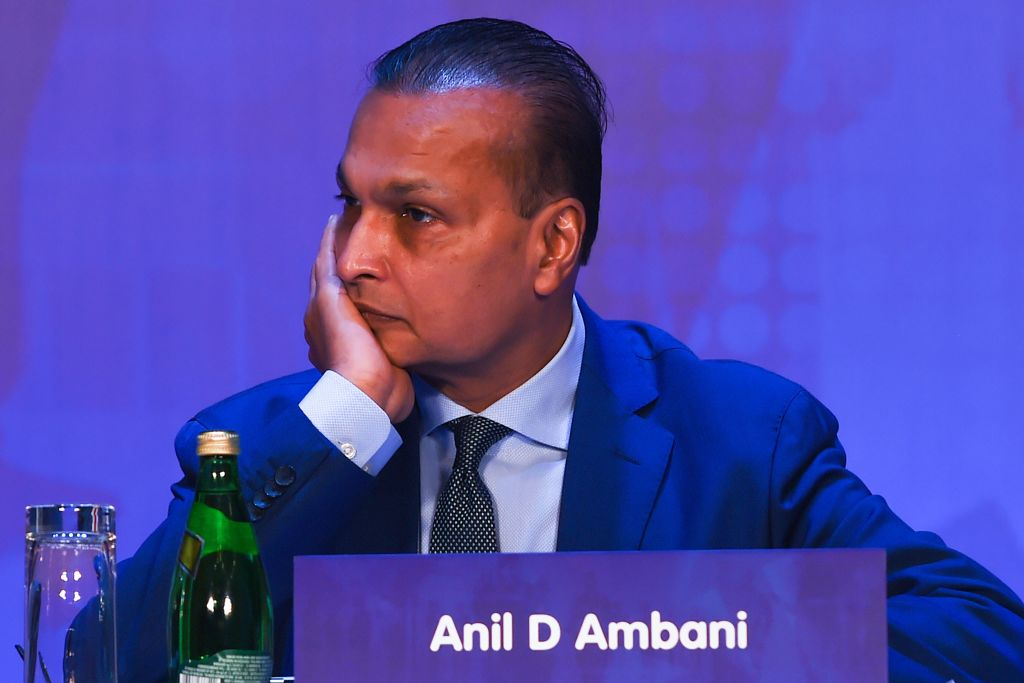 FILE PHOTO: Indian tycoon Anil Ambani attends the annual general meeting of Reliance ADAG Companies in Mumbai on September 30, 2019.       (INDRANIL MUKHERJEE/AFP via Getty Images)