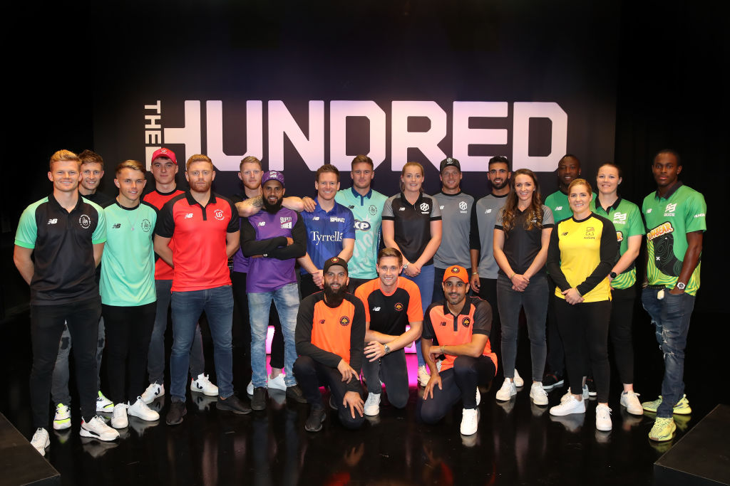 File photo: Players for the eight teams in The Hundred line up following The Hundred Draft, broadcast live from Sky Studios on October 20, 2019 in Isleworth, England. (Christopher Lee/Getty Images for ECB)