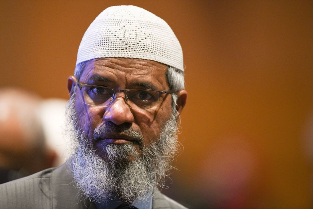 File photo: Controversial Indian Islamic preacher Zakir Naik at the opening ceremony of the Kuala Lumpur Summit 2019 in Kuala Lumpur. (Photo: MOHD RASFAN/AFP via Getty Images)