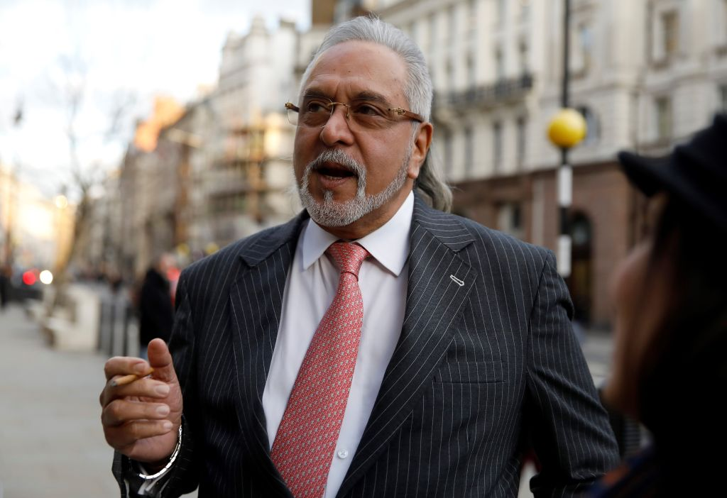 Indian tycoon Vijay Mallya outside the Royal Courts of Justice London on February 11, 2020. (Photo: TOLGA AKMEN/AFP via Getty Images)