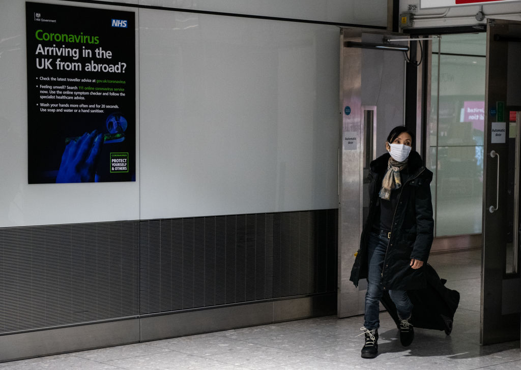 File photo of an airline passenger at Heathrow Terminal 5. (Photo: Chris J Ratcliffe/Getty Images)