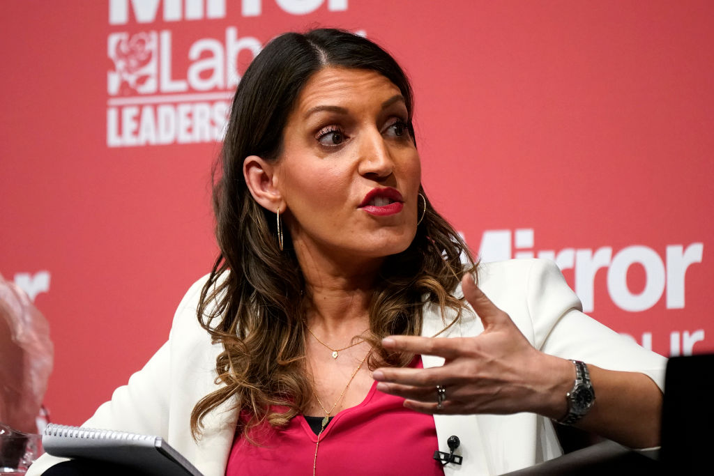Dr Rosena Allin-Khan, MP for Tooting addresses the audience during the last Labour Party Deputy Leadership hustings at Dudley Town Hall on March 08, 2020 in Dudley, England. (Photo by Christopher Furlong/Getty Images)